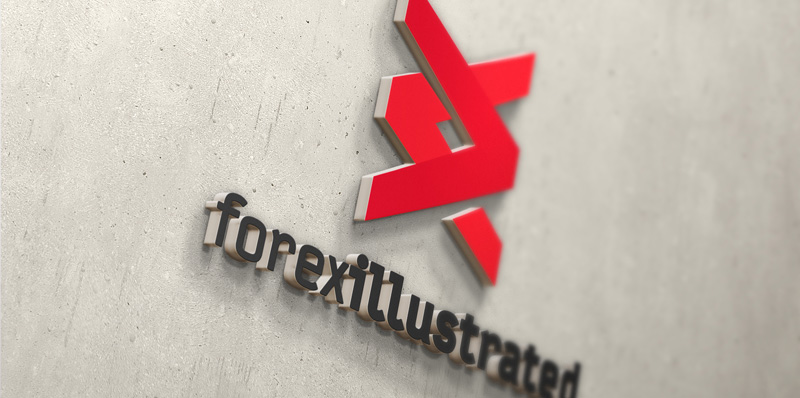 forex illustrated logo on wall