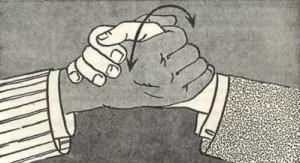 Secret handshake of forex traders
