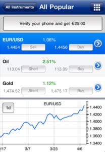 plus500 mobile platform screenshot forexillustrated