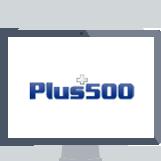 plus500 logo in computer