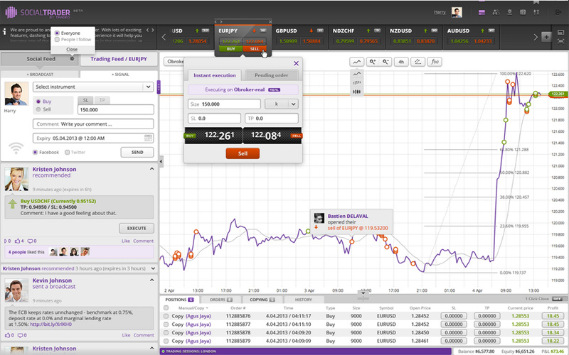 tradeo social trading platform full feature screenshot