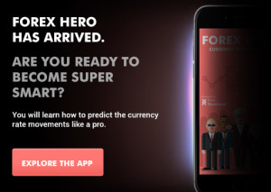 Forex hero trading education app for beginners launch banner