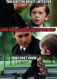 Johnny Depp brexit meme with a boy on bench what kind of brexit you voted for