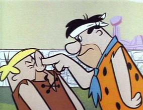 Barnie and fred Flinstone
