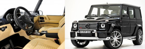 brabus G65 interrior and sideview