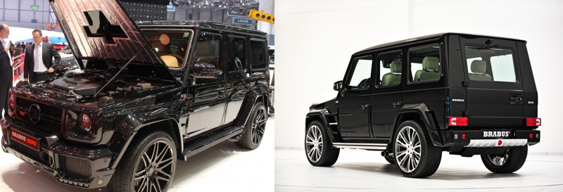brabus G65 back view and open bonnet