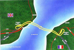 Chunnel - tunnel joining britain and france