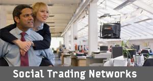 Social trading networks woman piggyback