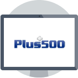 plus500 logo in computer