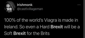 Brexit joke soft brexit viagra made in ireland by Pfizer