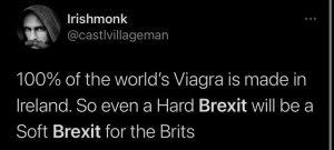 Brexit joke soft brexit viagra made in ireland by Pfizer