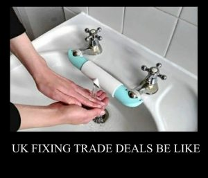 Brexit meme water tap hack done wrong