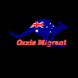 ozzie aussie australian dollar kangaroo with ozzie migrant